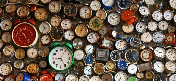 Image of many clocks